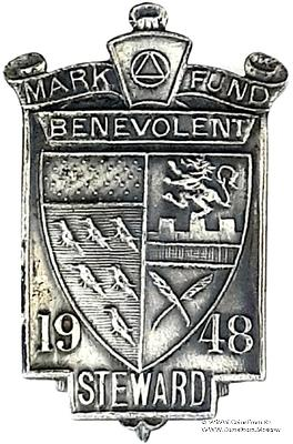 1948. Знак STEWARD Mark Benevolent Fund.