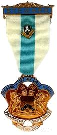 Знак MTGB 1986. STEWARD Masonic Trust for Girls and Boys.